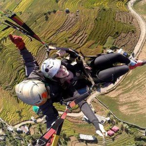 Paragliding at biling India