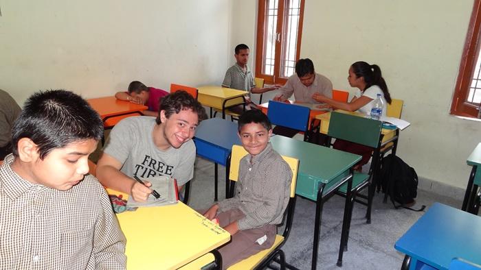teaching volunteer in India-palampur