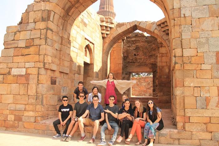 weekend trip by volunteers in India